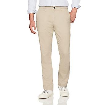 Brand - Goodthreads Men's Straight-Fit Washed Comfort Stretch Chino Pant, Khaki, 35W x 32L