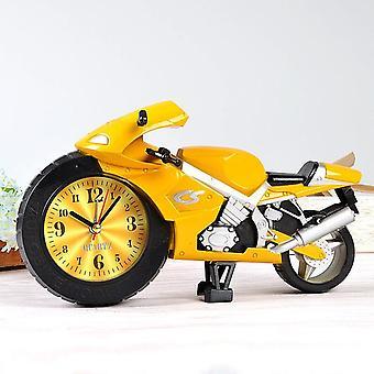 Luova laiska opiskelija lapset sarjakuva kannettava kello persoonallisuus makuuhuone mini kello moottoripyörä herätyskello