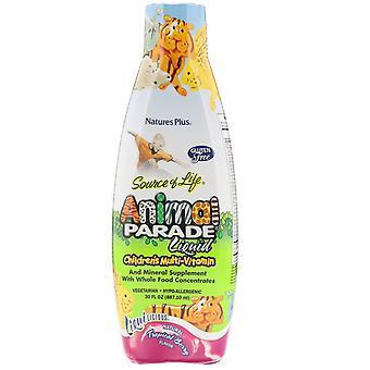 Nature's Plus, Kilde til liv, Animal Parade Liquid, Barnas Multi-Vitamin, N