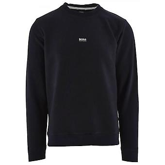 BOSS Navy Relaxed Fit Weevo Sweatshirt