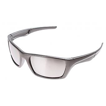 Sunglasses Unisex Sport grey with silver mirror lens