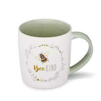 Cooksmart Bumble Bees Barrel Mug, Bee Kind