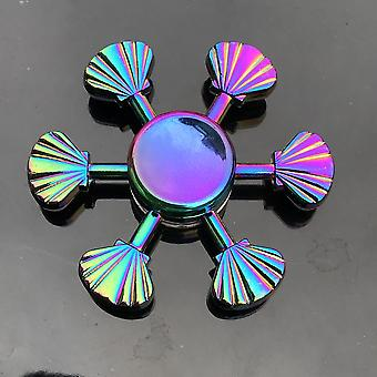 Multi-color Hand Spinner Fidget Zinc Alloy Metal - Hand Relieves Stress