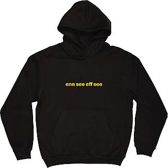 "Newport County ""Enn Siehe Eff Siehe"" Black Hooded-Top"