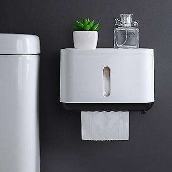 Waterproof Wall Mounted Paper Holder, Storage Box For Bathroom