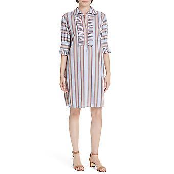 Tory Burch | Striped Ruffle Shirtdress