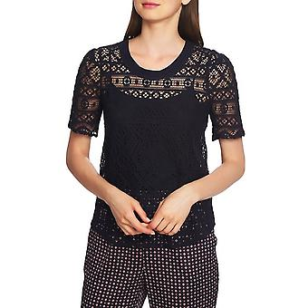 1.State | Plush Luxe Puff Sleeve Lace Top