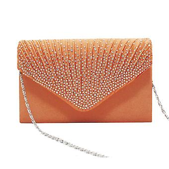 Evening bag, envelope bag with rhinestones details
