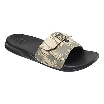 Reef Stash Slide Flip Flops - Tan Palm