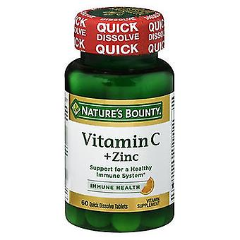 Nature's Bounty Vitamin C plus Zinc Quick Dissolve Tablets, 60 Tablets