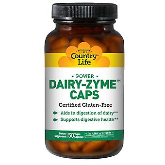 Country Life Mejeri-Zyme, 50 Caps
