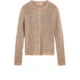 Sandwich Clothing Camel Chunky Knit Cardigan