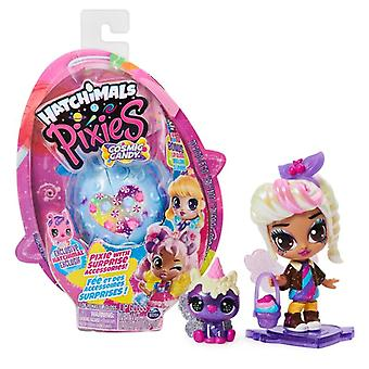 Hatchimals Colleggtibles Pixies Cosmic Candy Pixie with 2 Accessories (Random Character)