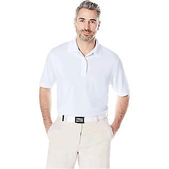 Essentials Men's Regular-Fit Quick-Dry Golf Polo Shirt, Branco, Grande