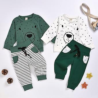 Nouveau-né Baby Boy Clothes Roupa Cartoon Bear Sweatshirt Tops + Pantalons Outfits Set