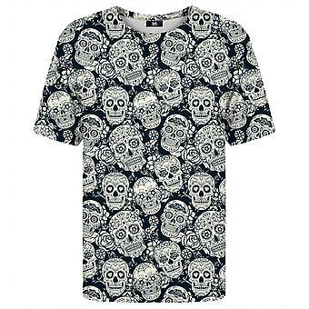 Mr. Gugu Miss Go Skull bloemen t-shirt