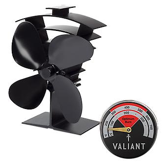 Premium iv stove fan and magnetic red thermometer pack