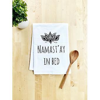 Namast'ay In Bed Dish Towel