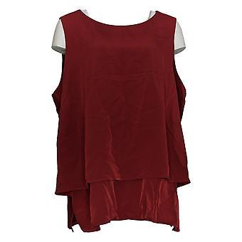 DG2 par Diane Gilman Women-apos;s Plus Top Red Tank Polyester Sleeveless 731-914