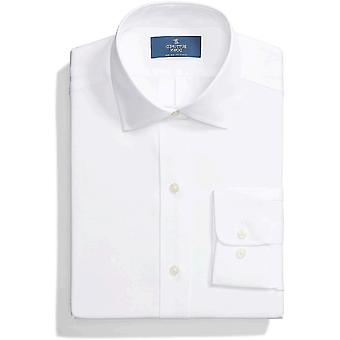 """Brand - Buttoned Down Men's Classic-Fit Spread Collar Solid Non-Iron Dress Shirt (No Pocket), White, 20"""" Neck 36"""" Sleeve (Big and Tall)"""