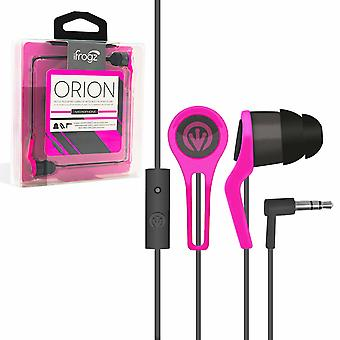 iFrogz Noise-Isolating Earbuds with Build-in Remote Mic, Pink