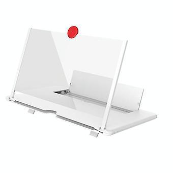 Amplificateur de support d'étirement d'écran de téléphone mobile 3D de 14 pouces (blanc)