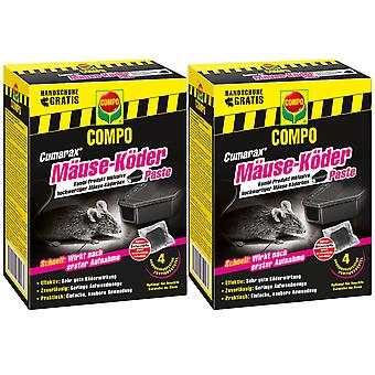 Sparset: 2 x COMPO Cumarax® hiirien syöttipasta, 40 g + 1 syöttilaatikko