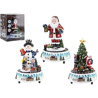 Light up 21cm Revolving Train Scene Festive Character, 1 Selected at random