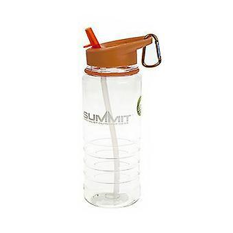 Summit 700ml Water Bottle with Folding Straw - 1 Unit Orange Bottle