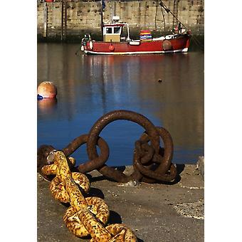 ميناء الرسو وصيد السمك بوستيربرينت قارب