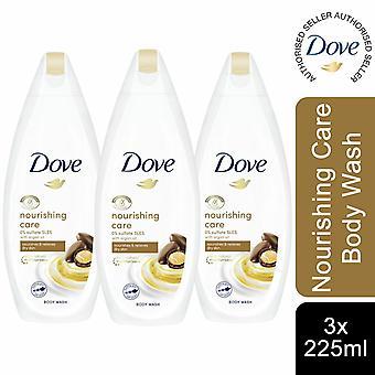 Dove Nourishing Care & Infused With Moroccan Argan Oil Body Wash, 3 Pk de 225ml
