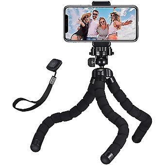 Flexible Phone Tripod with Bluetooth control, 360° Rotating Camera Tripod Stand