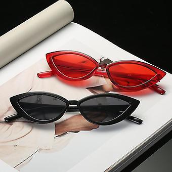 نظارات شمسية للعيون القط، العلامة التجارية مصمم مرآة الإطار الصغير نظارات الشمس كاتاين