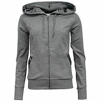 Puma mujeres gris negro algodón chaqueta pantalones de chándal completo 834784 02 A93C