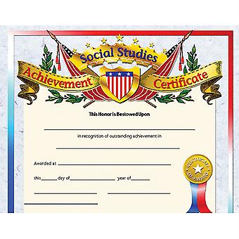 Social Studies Achievement Certificate, 30/Pkg