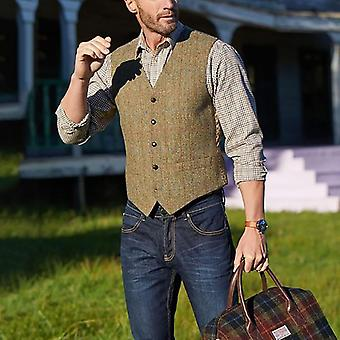 Mens Suit Vest, Casual Business Sleeveless Waistcoat, Single Breasted Vests