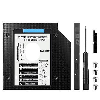 """Hdd Caddy Aluminum Optibay Sata3.0 Hard Disk Drive Enclosure Dvd Adapter 2.5"""""""