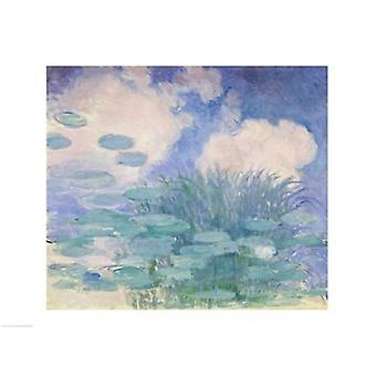 Waterlilies 1914-17 Poster Print by Claude Monet (24 x 18)
