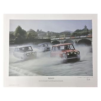 Robert Tomlin Italian Job Splashing Out Print By Robert Tomlin