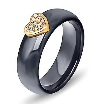 Keramische ring met Big Crystal Wedding Band