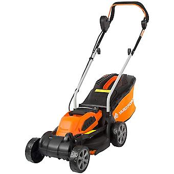 Yard Force 40V 32cm Cordless Lawnmower with Lithium-ion Battery and Quick Charger LM G32