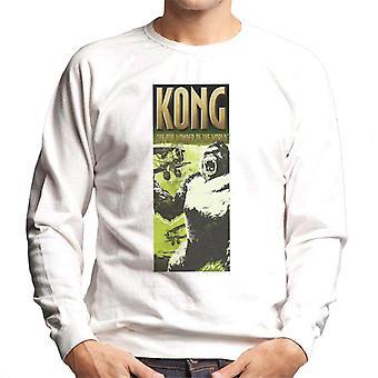 King Kong siendo enjaulado por biplanos La 8a maravilla del mundo Hombres's Sudadera