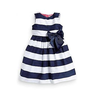 Bez rukávov pruhované luk tutu šaty-dojča
