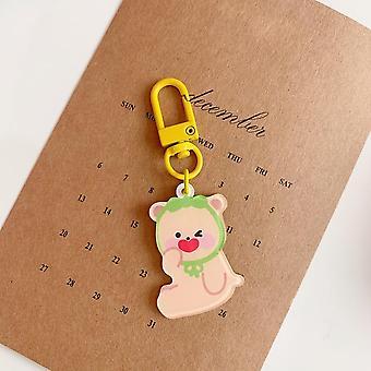 Cartoon Cute Bear Rabbit  Student Schoolbag Key Buckle