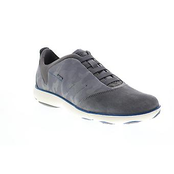 Geox U Nebula Mens Gray Suede Lace Up Euro Sneakers Chaussures