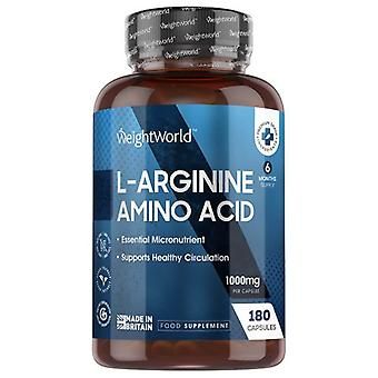 L-Arginine Amino Acid Capsules - Fitness Supplement for Size, Definition and Muscle Performance - 180 Capsules
