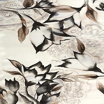 Veelkleurig bloementuin bedrukt tapijt in polyester, katoen, L100xP200 cm