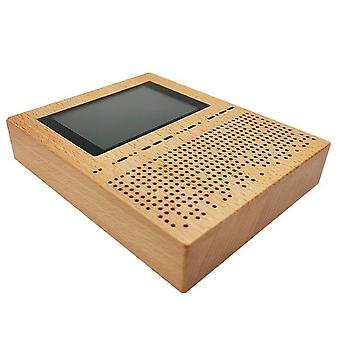 3.5 بوصة شاشة LCD الرقمية استقبال إشارة sdr راديو malachite malahit dsp sdr استقبال الخشب قذيفة مكبرات الصوت باس