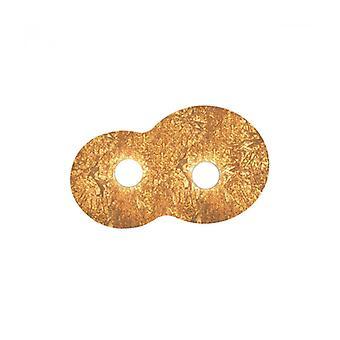 Plafón Circle Blanco 2 Bombillas Vintage Gold