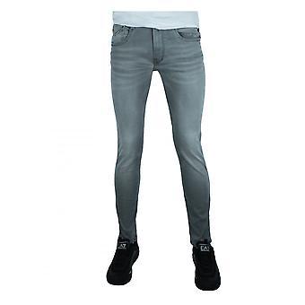 Replay Jeans Replay Mens Hyperflex X-lite Re-used Anbass Stretch Slim Fit Denim Light Grey